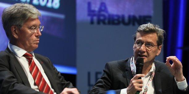 Yann Barbaux (Aerospace Valley) et Gilles Rabin (Cnes).