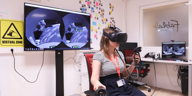 Thales utilise la réalité virtuelle à des fins de formation.