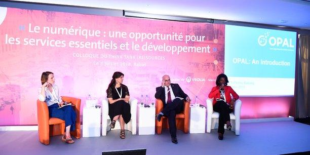 Le big data au service du développement, de gauche à droite ; Mathilde Martin-Moreau, Elisabeth Medou Badang, Afke Schaart et Carlo Mario Rossotto.