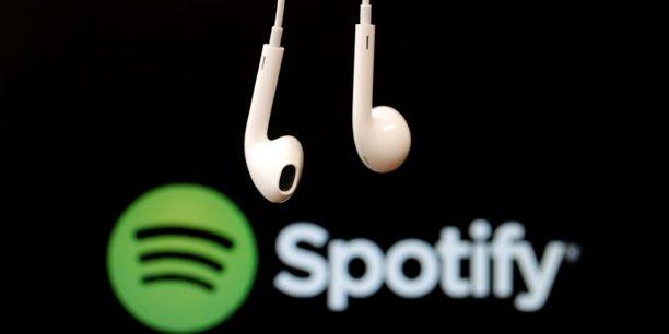 La plateforme de streaming suédoise Spotify est valorisée 28,8 milliards de dollars.