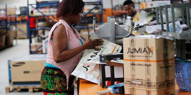 Une employée de Jumia, dans le district d'Ikeja, à Lagos.