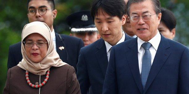 Nucleaire coreen: les discussions sur la bonne voie, dit le president moon[reuters.com]