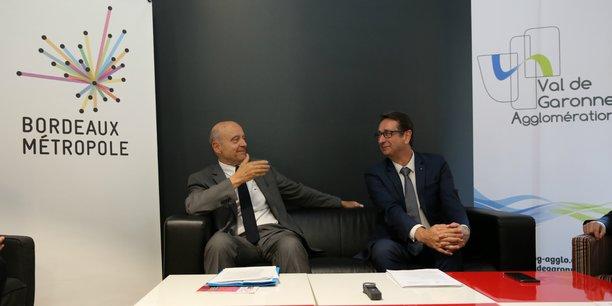 Alain Juppé, le président de Bordeaux Métropole, et Daniel Benquet, le président de Val de Garonne Agglomération, se sont rencontrés vendredi 13 juillet.