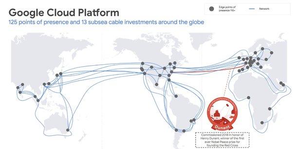 Google mise sur 13 câbles sous-marins pour écouler son trafic de données - dont 7 seront opérationnels à partir de 2019.