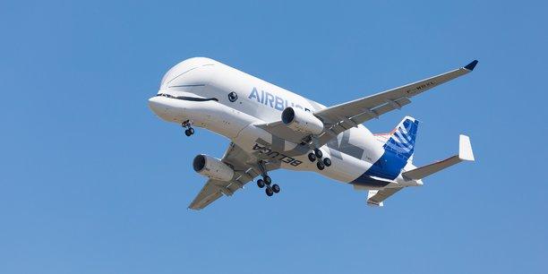 Premier vol d'essai pour le BelugaXL d'Airbus ce jeudi 19 juillet.