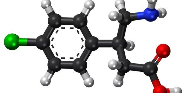 La molécule du baclofène en 3D.Vaccinationist/PubChem,CC BY-SA