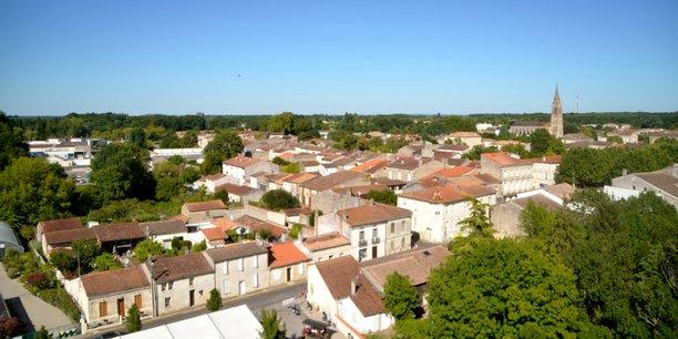 Le centre-ville de Lesparre-Médoc qui compte environ 6.000 habitants.