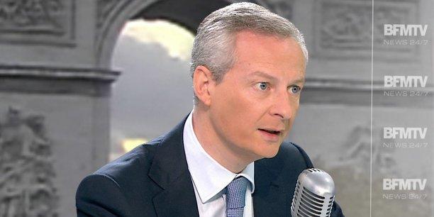 Bruno Le Maire a aussi annoncé un possible report de l'examen de son projet de loi Pacte sur les entreprises.