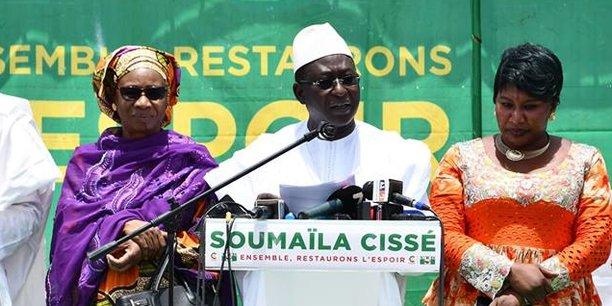 Le principal candidat de l'opposition, Soumaila Cissé, va affronter au second tour le président sortant Ibrahim Boubacar Keita.