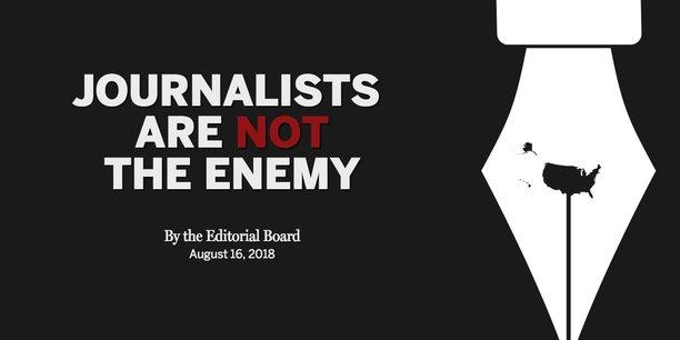 Le Boston Globe est à l'initiative de cette campagne pour réagir à la multiplication des coups de boutoir du président américain contre les médias, qu'il accuse de produire des fake news dès qu'ils rapportent des informations qui le dérangent.
