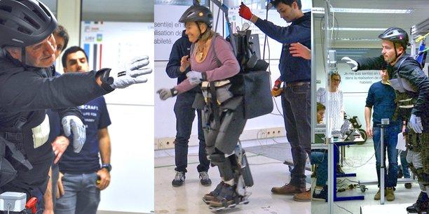 Un exosquelette intuitif permet à des paraplégiques de marcher.