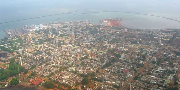 Vue sur Conakry.