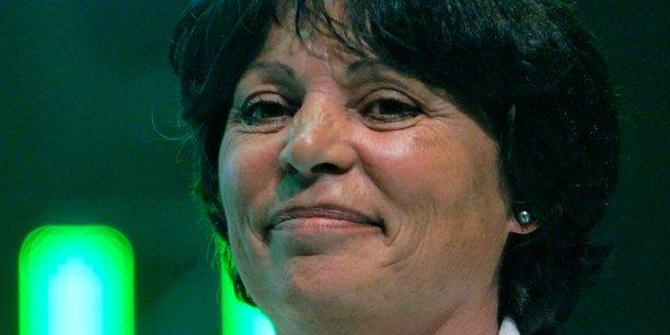 Michèle Rivasi au meeting d'Europe Écologie au Zénith le 3 juin 2009, dans le cadre de la campagne française pour les élections européennes de 2009.