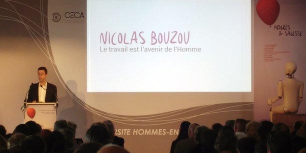 L'économiste et chroniqueur libéral, fondateur du cabinet de conseils Asterès, Nicolas Bouzou a ouvert, jeudi 30 août, la 24e édition de l'Université hommes-entreprises, à Martillac.