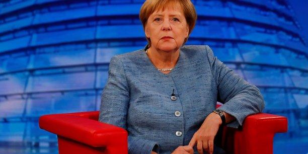 Angela Merkel, lors de son entretien à la télévision sur la chaîne ARD, le 26 août 2018.