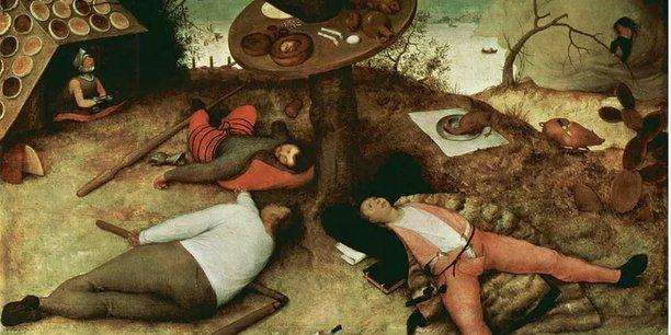 Le pays de Cocagne par Pieter Brueghel l'Ancien, 1567.  Wikimedia