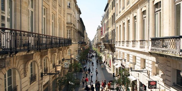 Vue de la rue Sainte-Catherine à Bordeaux.