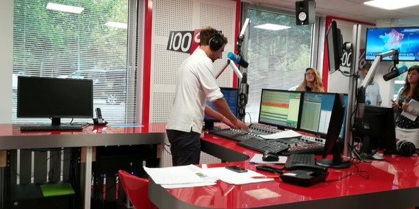 Le studio de 100% Radio dans le quartier des Minimes à Toulouse.