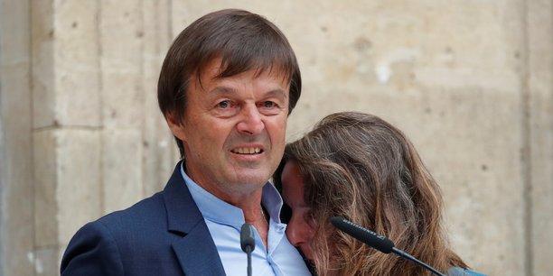 Nicolas Hulot, le jour de la passation de pouvoir avec son successeur, François de Rugy.