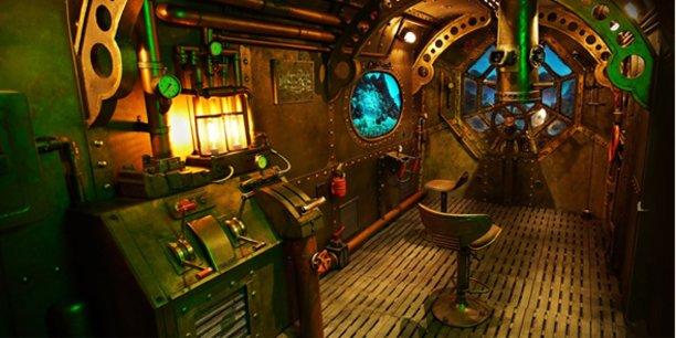 Le prototype du sous-marin au centre d'Echo Squad