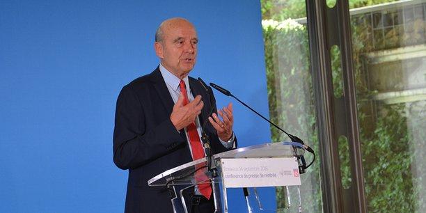 Alain Juppé, maire de Bordeaux et président de Bordeaux Métropole, lors de sa conférence de presse de rentrée le 14 septembre 2018
