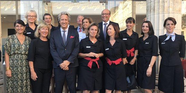 L'inauguration de l'agence Air France repensée s'est déroulée lundi sur les allées de Tourny à Bordeaux