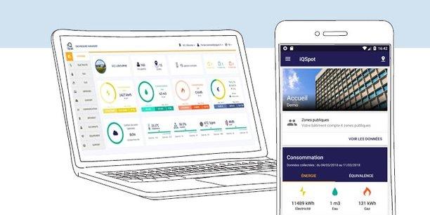 La startup bordelaise iQSpot est spécialisée dans l'analyse en temps réel des performances énergétiques des parcs de bâtiments tertiaires.