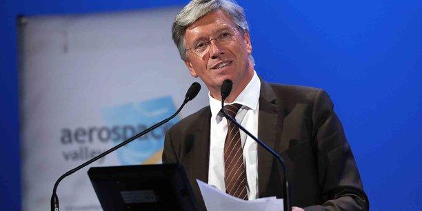 Le président d'Aerospace Valley, Yann Barbaux, a annoncé la création d'une filière drone au sein de son organisation, mardi 25 septembre.