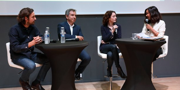Nicolas Laisné, Thierry Aznar, Eva Jospin et Pascale Cayla, lors de la 1e table-ronde du MAO 2018