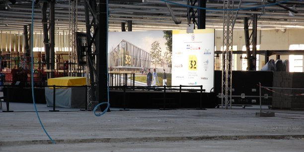 La friche industrielle en cours d'aménagement qui accueillera Hall 32