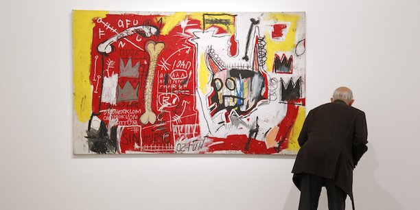 Une toile du peintre américain Jean-Michel Basquiat (1960-1988), dont les oeuvres ont été les plus achetées  (256 millions de dollars) au cours des 12 derniers mois, devant celles de l'Ecossais Peter Doig (101 millions) et de l'Italien Rudolf Stingel (52 millions).