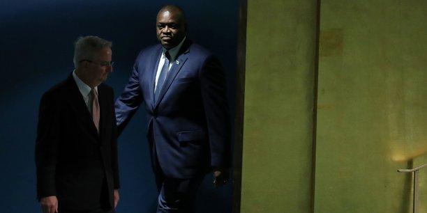 Le président du Botswana, Mokgweetsi Eric Keabetswe Masisi, lors de la 73e session de Assemblée générale de l'ONU, tenue le 27 septembre 2018 à New York.
