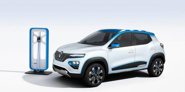 La K-ZE de Renault, une voiture électrique avec laquelle le constructeur espère s'imposer en Chine, premier marché mondial de la voiture électrique.