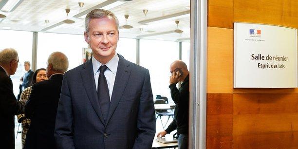 Bruno Le Maire ce lundi matin à la sortie de la réunion.