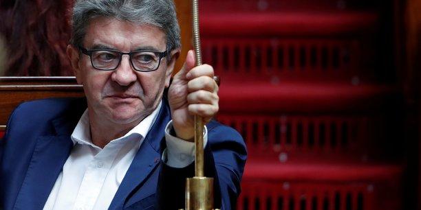 Jean-Luc Mélenchon, chef de file de La France Insoumise, sur les bancs de l'Assemblée nationale, le 18 septembre 2018.