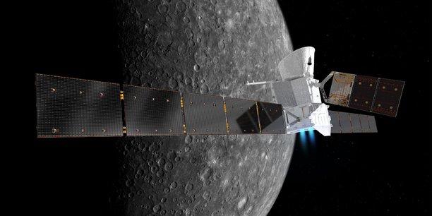 BepiColombo et ses deux sondes MPO (Mercury Planetary Orbiter) et MMO (Mercury Magnetospheric Orbiter) vont parcourir 8,5 milliards de kilomètres et arriver en orbite autour de la planète Mercure en 2025.