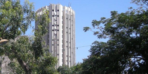 Le siège de la Banque centrale des Etats de l'Afrique de l'Ouest (BCEAO) à Dakar, la capitale du Sénégal.
