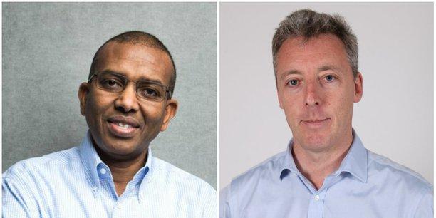 Ismail Ahmed, fondateur de WorldRemit et Breon Corcoran, nouveau CEO du groupe spécialisé dans les services de transfert d'argent.