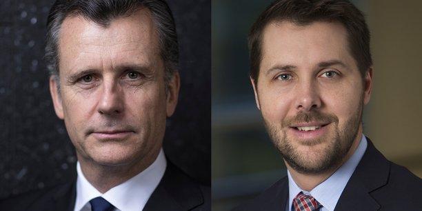 Philipp Hildebrand, Vice-président de BlackRock et Brian Deese, responsable mondial de l'investissement durable du gérant d'actifs.