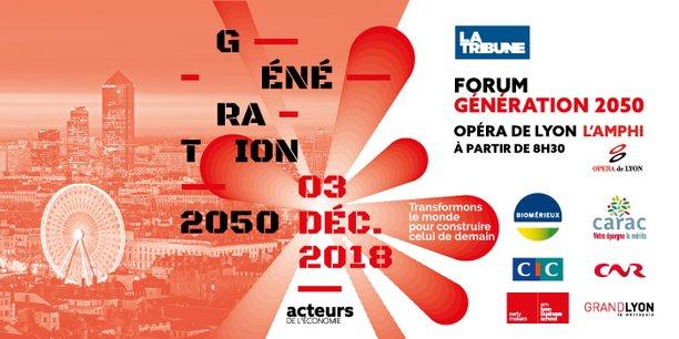 Forum Génération 2050 à l'Opéra de Lyon | l'Amphi le 03.12.2018