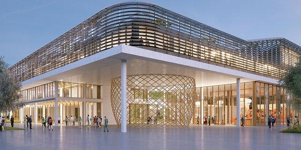 L'entrée principale du 1er bâtiment donnera sur le boulevard technologique