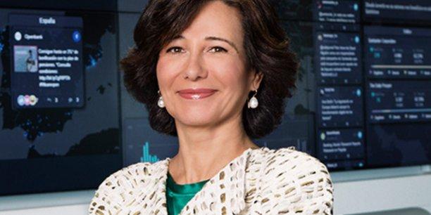 Ana Botin, la présidente du groupe Banco Santander, peut avoir le sourire : le géant bancaire espagnol, très bien implanté au Brésil, a réalisé des résultats en forte hausse.
