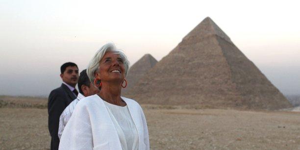 Christine Lagarde, directrice générale du FMI, lors d'une visite en Egypte.