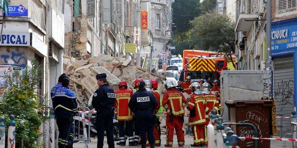 Le bilan de l'effondrement des immeubles à Marseille s'établit pour le moment à six morts.