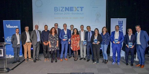 Les lauréats, partenaires et intervenants de Biznext Bordeaux 2018