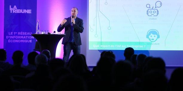 Luc Truntzler, directeur associé d'Inbenta France a présenté les avancées de l'intelligence artificielle à l'occasion de la dernière édition de Biznext.