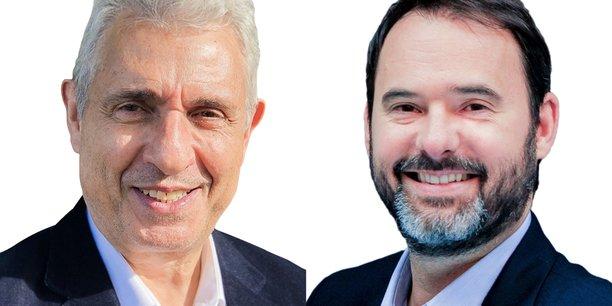 Laoreato Santonastasi  et Jean-Romain Lhomme (à dr.).
