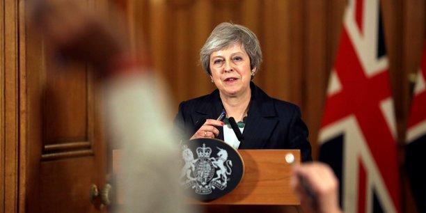 La première ministre britannique, Theresa May, à Londres, le 15 novembre, lors d'une conférence de presse.