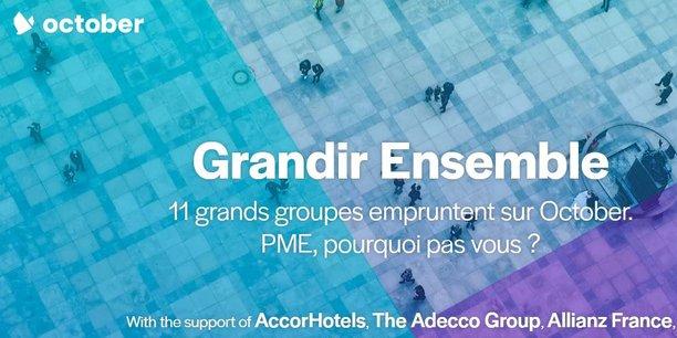 AccorHotels sera le premier à se lancer sur la plateforme de crowdlending October (ex Lendix) et sera suivi de dix autres groupes, Allianz France, Adecco, Crédit Mutuel Arkéa, Edenred, Engie, Iliad-Free, JCDecaux, Suez, Unibail-Rodamco, Webhelp.
