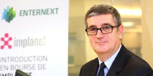 Ludovic Lastennet lors de l'introduction d'Implanet en Bourse.